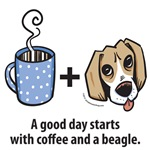 Coffee and a beagle