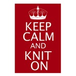 Customisable Keep Calm and Knit On