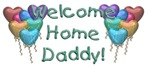 Welcome Home Daddy! (Heart Shaped Balloons)