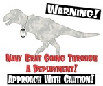 Caution Navy Brat Dino