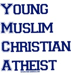 Young Muslim Christian Atheist