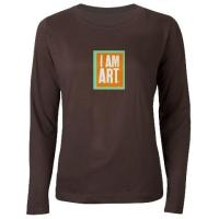 I Am Art- Orange and Mint Square Logo