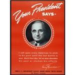 Vintage President Harry Truman