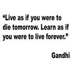 Gandhi Live and Learn Quote