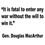 MacArthur Will to Win Quote