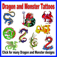 Dragon and Monster Tattoos