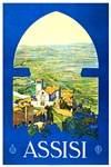 Assisi Italy Travel Poster 1