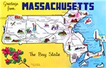 Massachussetts Map Greetings