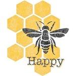 Honeycomb Bee Happy