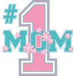 #1 Mom Pink
