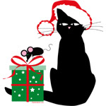 Santa Cat & Mouse