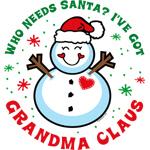 Snowman Grandma Claus