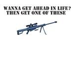 Sniper T-Shirt.Barrett 50 Calibre