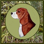 Beagle with hunting background