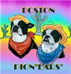 Boston Bull Terrier Cowboys