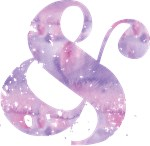 Lavender Watercolor Ampersand