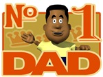 Number 1 Dad - Black Father