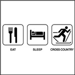 EAT SLEEP CROSS COUNTRY