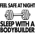 feel save at night sleep with a bodybuilder