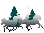 Gray Horses in the Moonlight