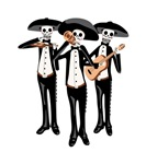 Day Of The Dead Mariachi Skeletons