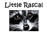 Little Rascal Raccoon with Text