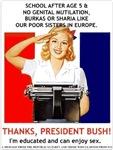 Thanks, President Bush!