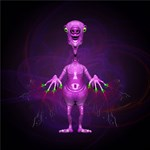 Fun Pink Alien Telepathic Power