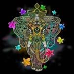Elephant Zentangle Doodle Art