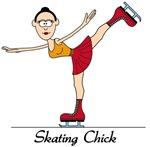 Skating Chick t-shirts & gifts
