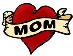 Mom heart tattoo t-shirts & gifts