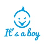 It's a boy, cute baby face icon