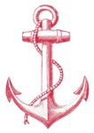 vintage red anchor