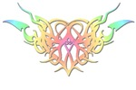 Pastel heart tattoo t-shirts & gifts