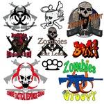 Zombie,,Skull & Gamer designs