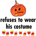 refuses to wear costume