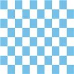 Sky Blue Checkerboard
