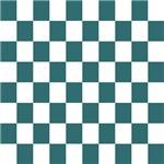 Slate blue checkerboard