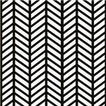 Black Striped Weave Print