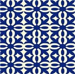 Royal Blue Victorian Lace