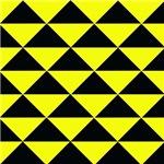 Black and Lemon Yellow Triangles