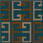 Earthy Blue Aztec Tile
