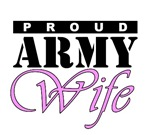 Proud Army Wife. Army wife t-shirts.