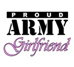 Army Girlfriend t-shirts. Proud Army Girlfirend.