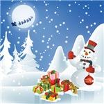 Christmas Gifts. Snowman.