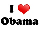 I love [heart] Obama t-shirts and gifts.