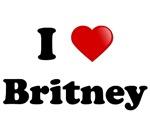 I love (heart) Britney T-shirts.