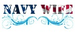 NAVY WIFE. Navy WIFE t-shirts withe the US f