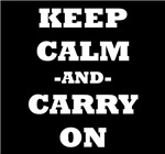 Keep Calm And Carry On (Black)