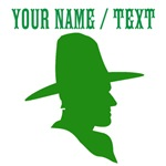Custom Green Cowboy Silhouette